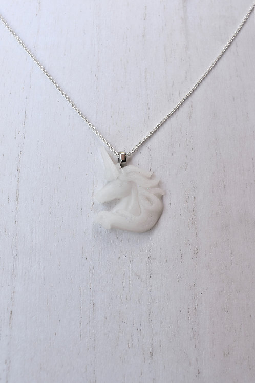Unicorn Profile Necklace