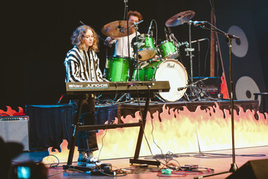 Toni Loew and Rein Vaska at Palo Alto Battle of the Bands, 2019.