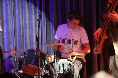 Rein drumming at Angelica's Restaurant