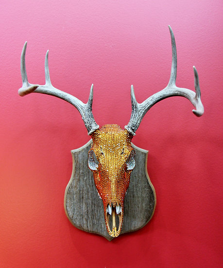 Topaz Crystal Deer Mount