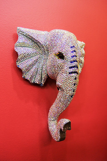 Shimmering Swarovski Crystal Elephant