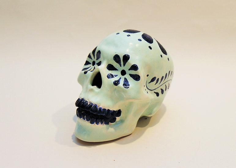 Ceramic Flower Skull