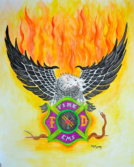 Wings of Fire - watercolor