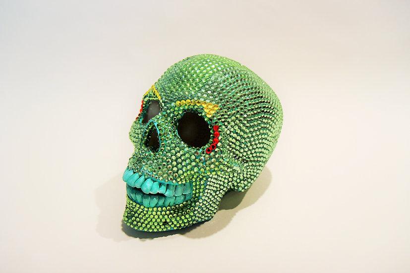 Swarovski Emerald Crystal Skull