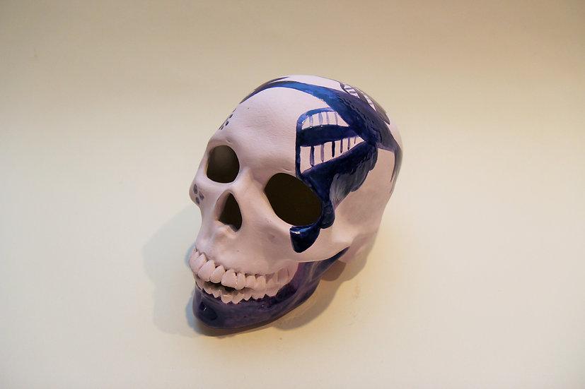 Cranium with Folk Art Bird