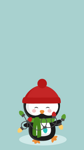 Holiday Phone Wallpapers - Christmas Backgrounds -- Christmas Phone backgrounds - winter phone backgrounds - cassandra ann - cute winter penguin background