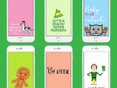 Festively Fun Holiday Phone Backgrounds