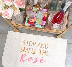 Stop and Smell the Rose Doormat - Cassandra Ann - CassandraAnn.com - Door mat - DIY - Buy