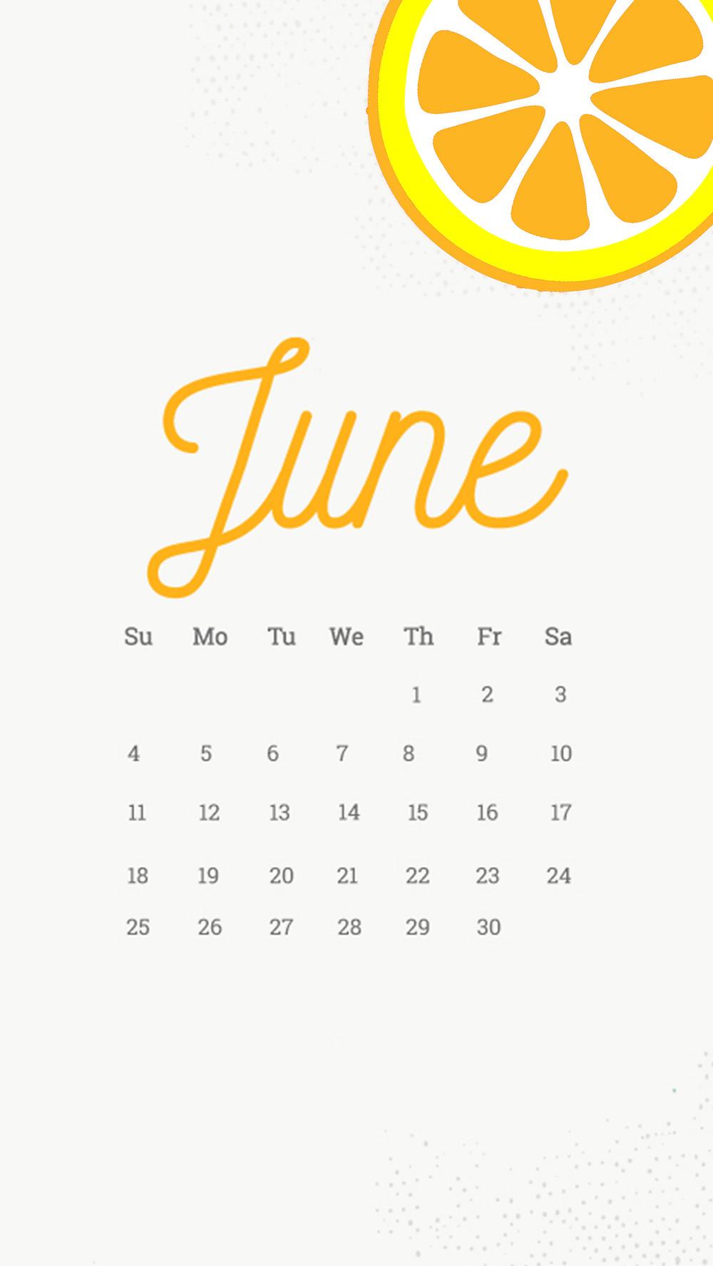 june citrus calendar tech phone and desktop background wallpaper free download