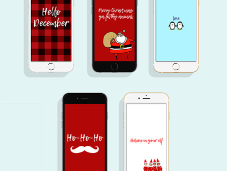Hello December: Phone Wallpapers for December