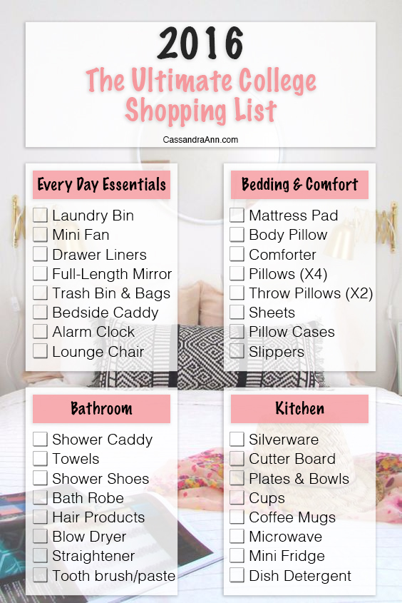 Marvelous The Ultimate College Shopping List | Blog | CassandraAnn.com   Lifestyle  Blogger Part 23