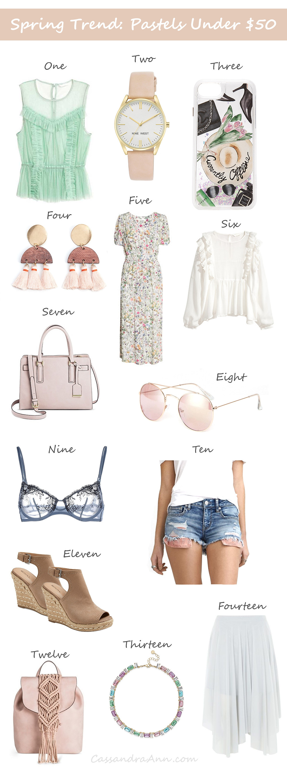Spring Trend: Fashion Pastel Outfit Under $50 - Affordable fashion