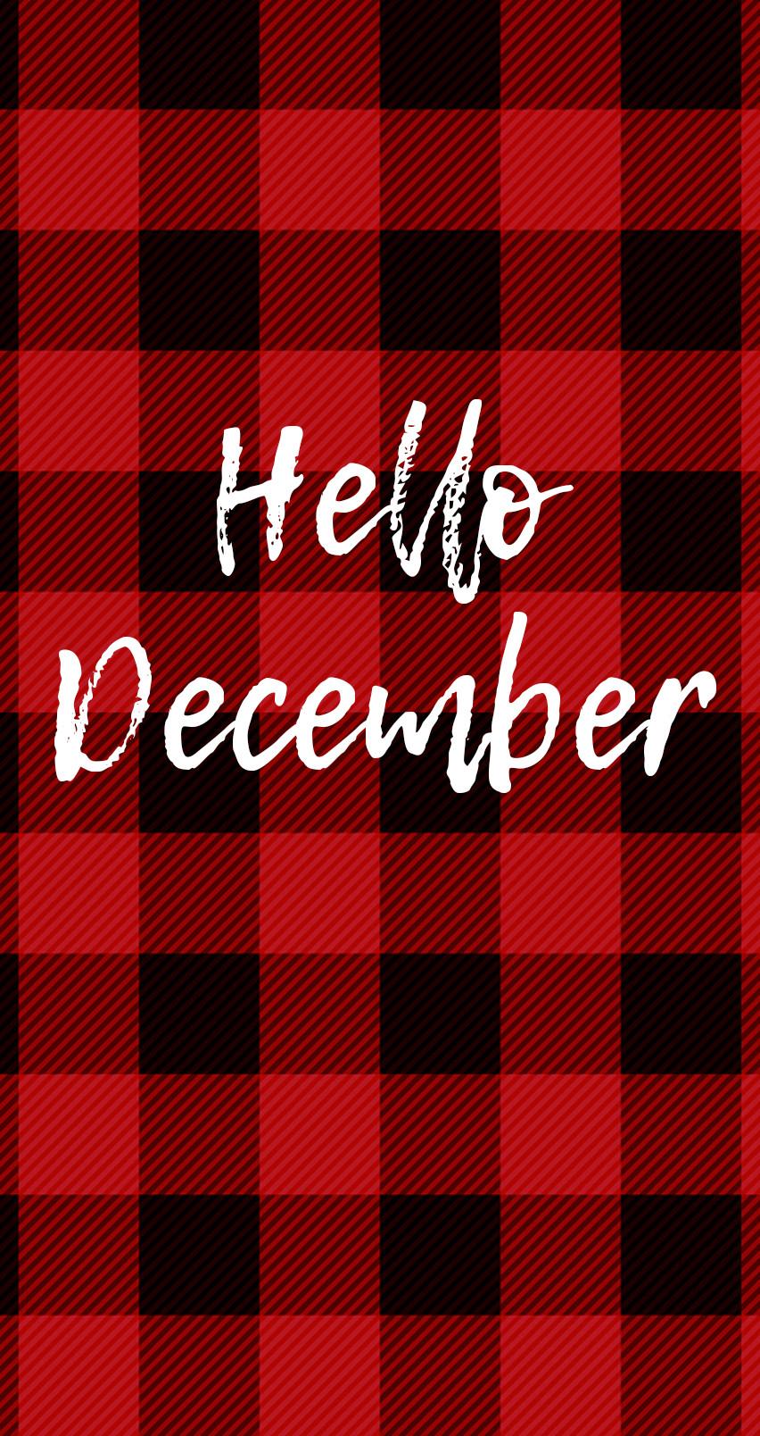 iphone hello december wallpapers - cassandra ann - cassandra ann phone  backgrounds - christmas phone backgrounds - christmas wallpapers - plaid wallpaper