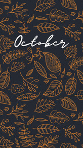 October Fall Background and Wallpaper