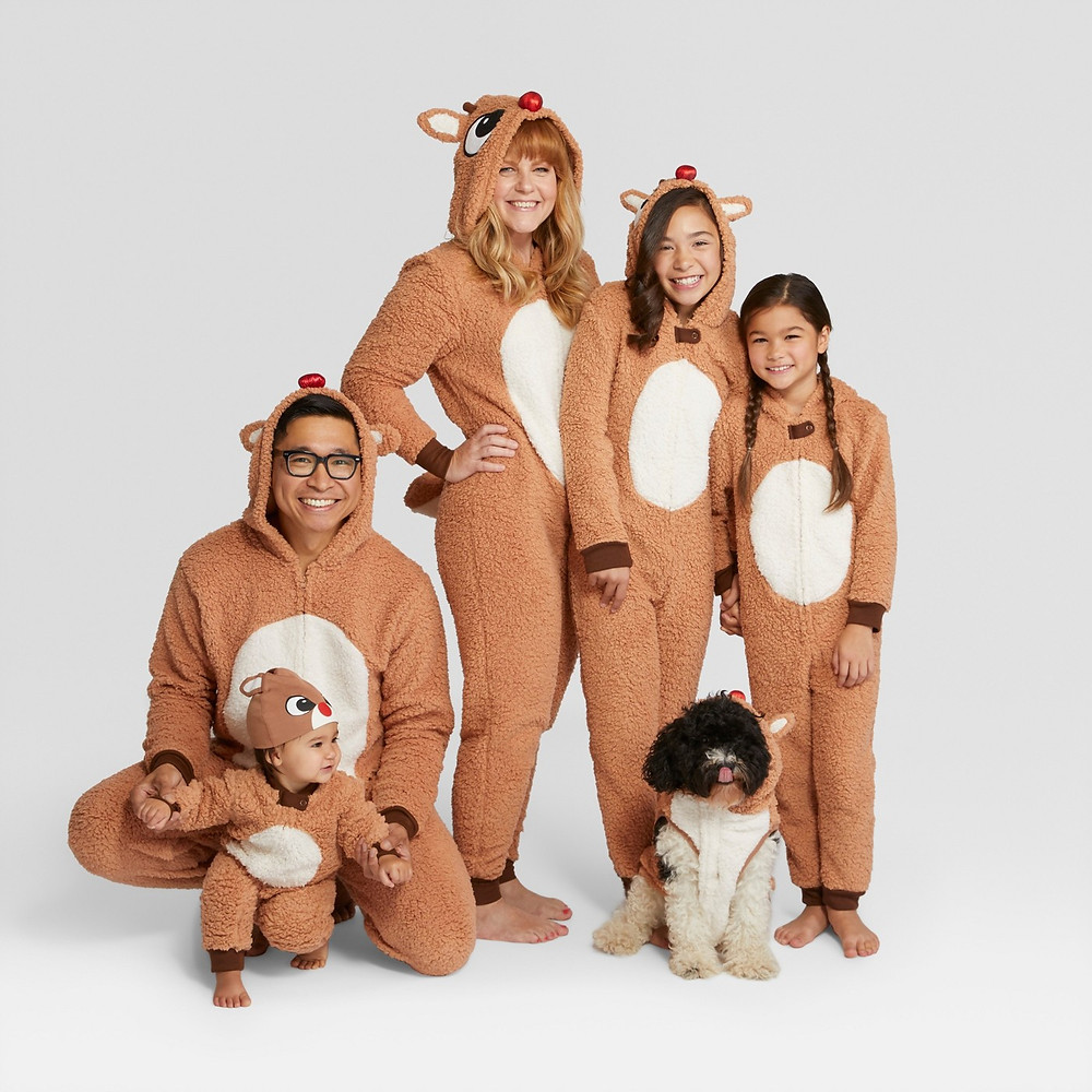 matching family pajamas - matching pajamas - matching pjs - rudolph the red nose reindeer