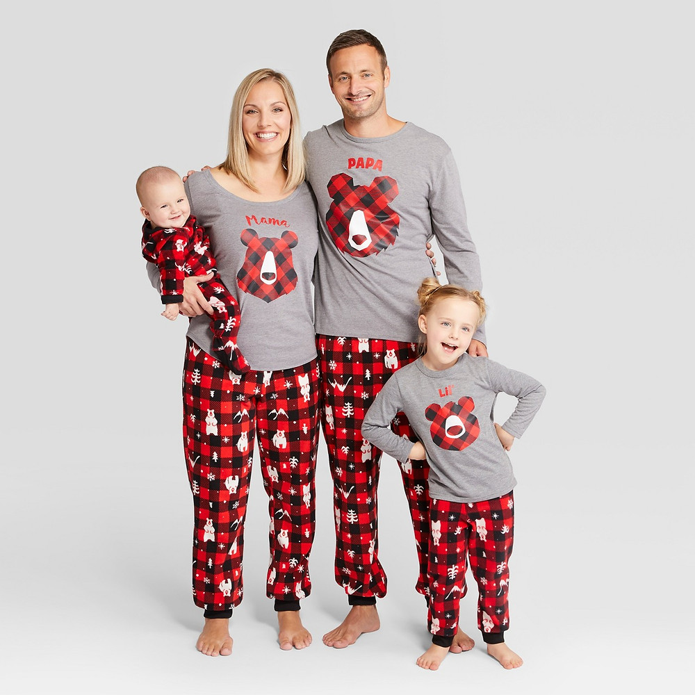 matching family pajamas - matching pajamas - matching pjs - bear