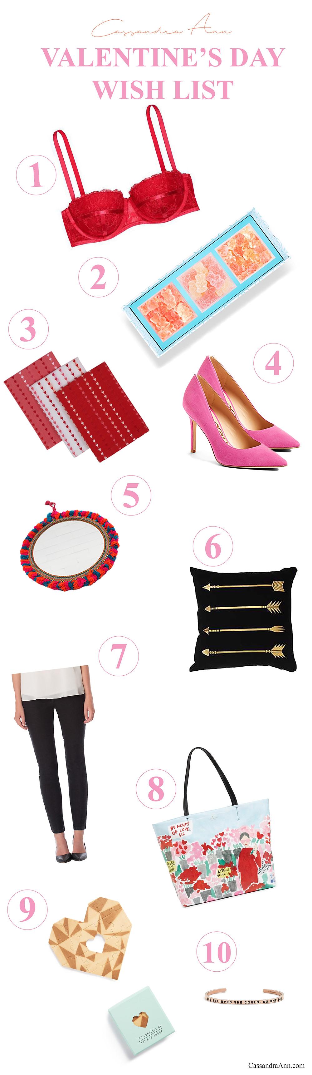 Cassandra Ann Lifestyle Blogger - Valentine's Day Wish List - Fashion Blogger - Fashion Blog - Beauty Blog - Top Blogger 2017