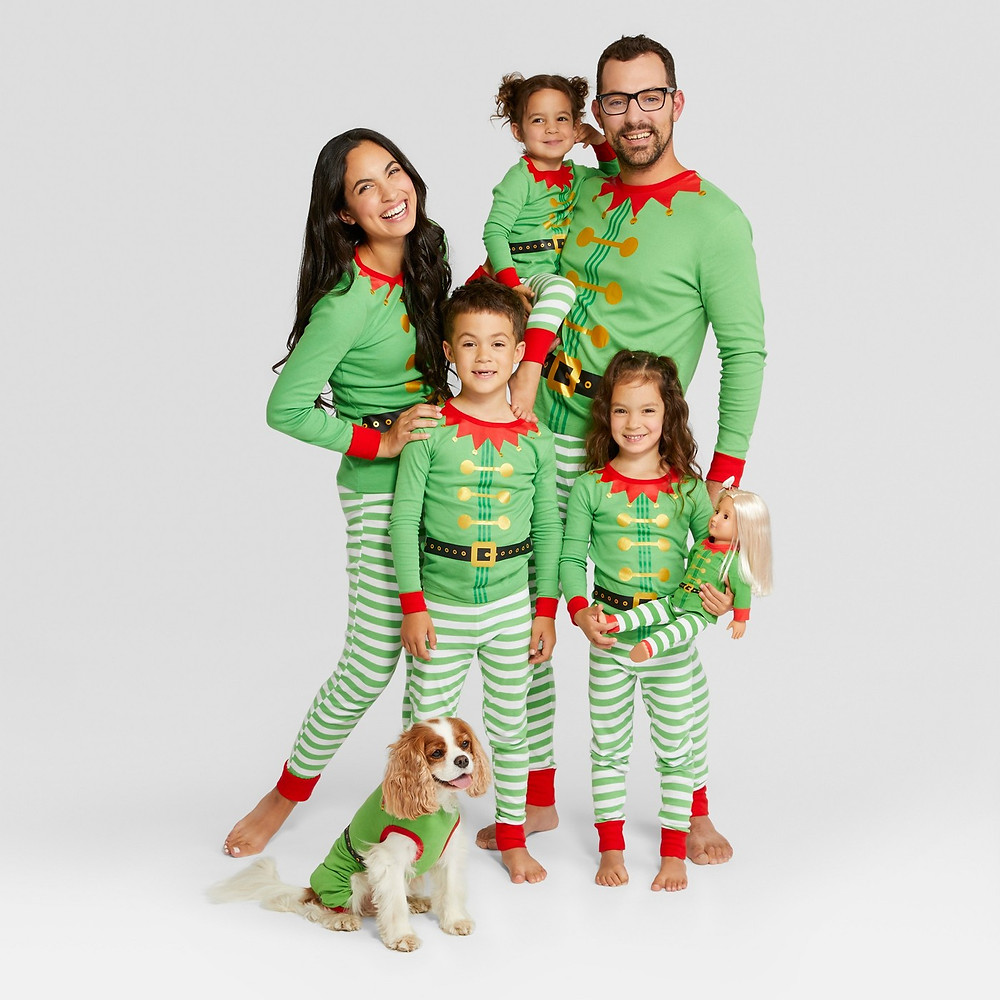 matching family pajamas - matching pajamas - matching pjs - elf