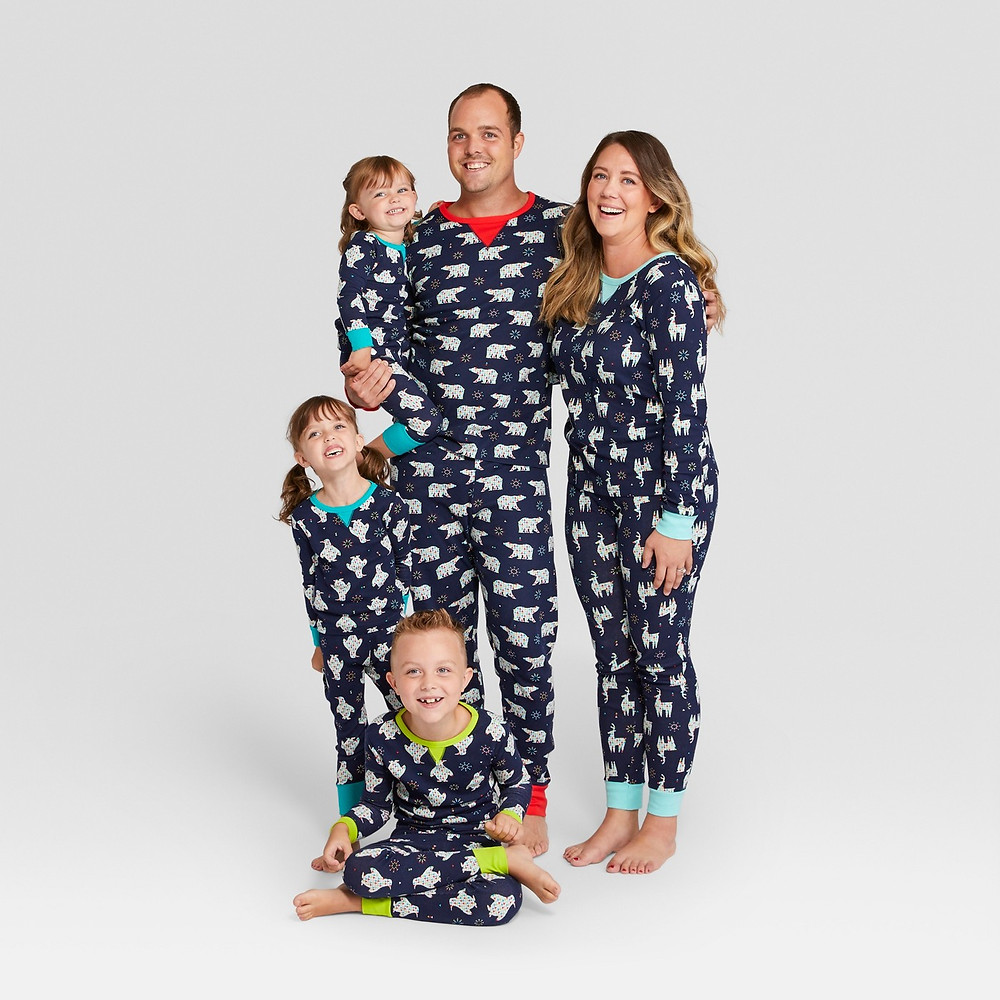 matching family pajamas - matching pajamas - matching pjs - polar bears