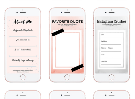 Freebies: Instagram Story Templates