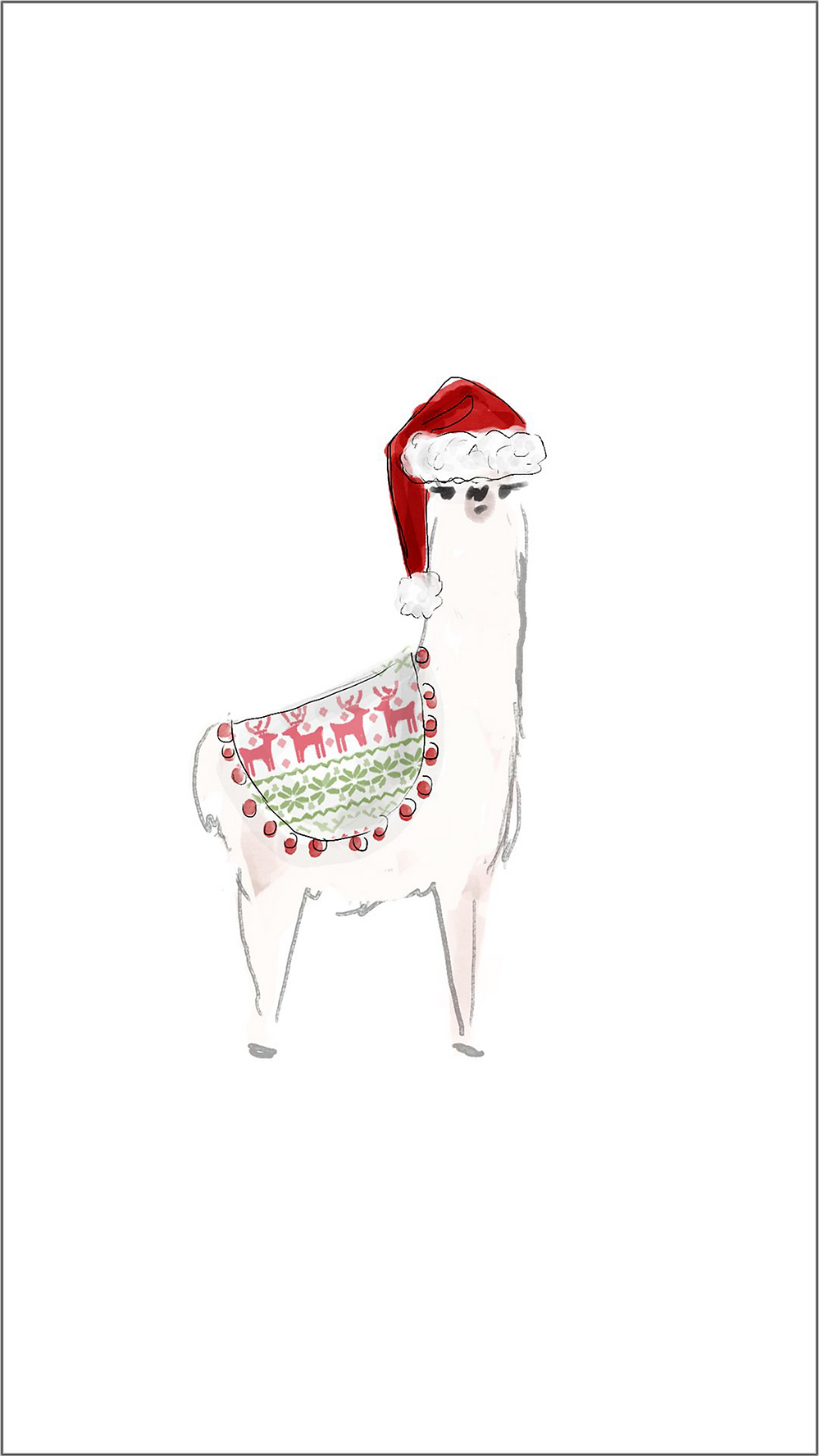 Holiday Phone Wallpapers - Christmas Backgrounds -- Christmas Phone backgrounds - winter phone backgrounds - cassandra ann - christmas llama