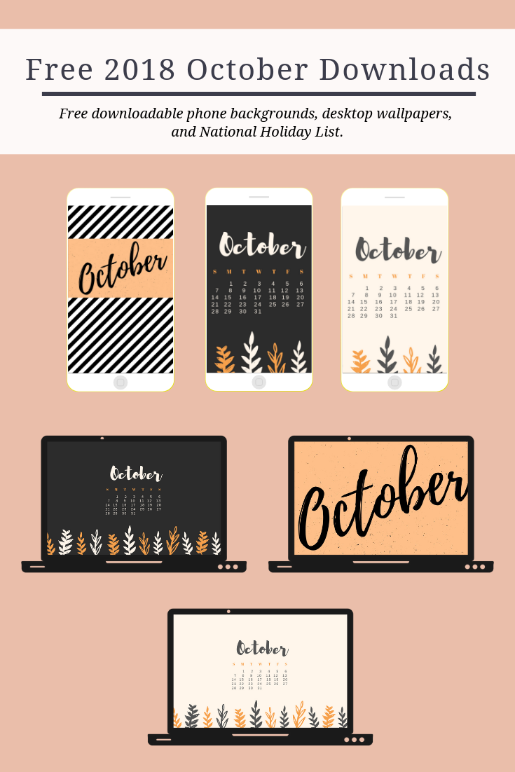 Free Download: October Calendars & Wallpapers - Cassandra Ann Tech Downloads - free october wallpapers - october national holiday list