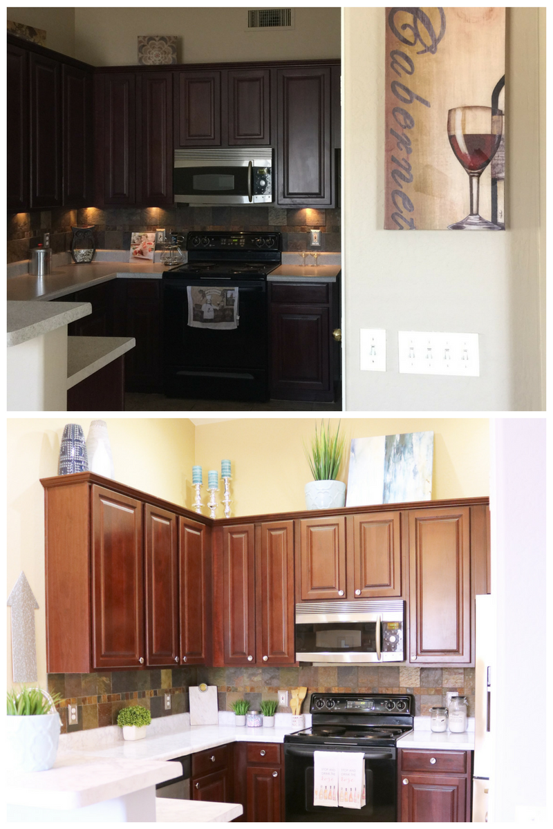 Before Rental Kitchen Refresh - Budget Friendly Kitchen Refresh - Cassandra Ann - Rental Kitchen Makeover on a budget - lifestyle blog - before and after kitchen