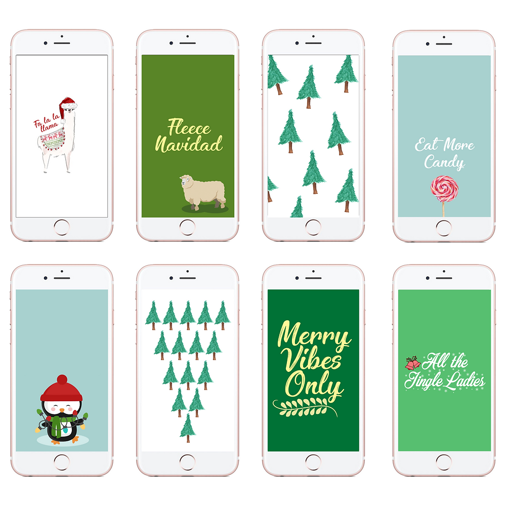Holiday Phone Wallpapers - Christmas Backgrounds -- Christmas Phone backgrounds - winter phone backgrounds - cassandra ann