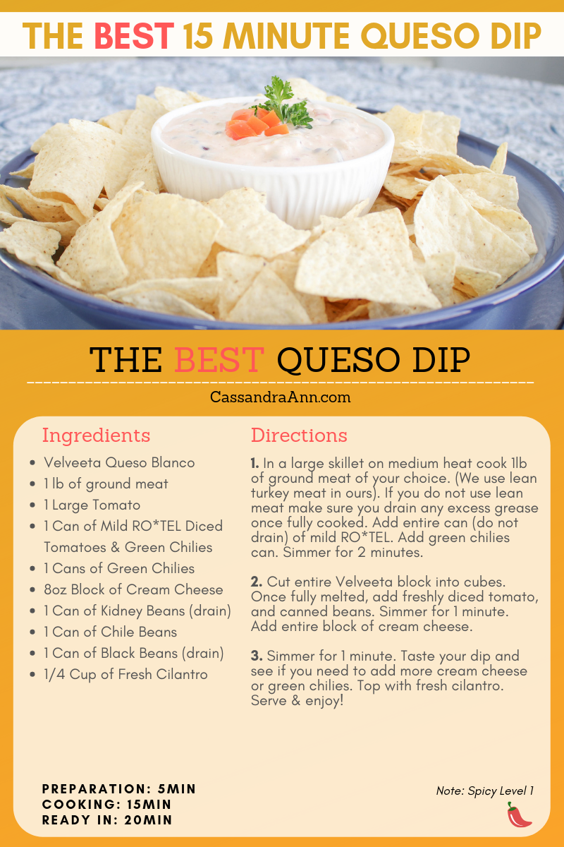 super bowl recipe ideas - super bowl appetizer ideas - game day snacks - game day appetizer - easy appetizer - easy pot luck recipes - cassandra ann - spicy queso recipe - extra spicy queso recipe