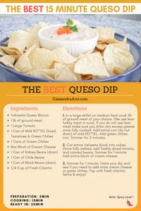 super bowl recipe ideas - super bowl appetizer ideas - game day snacks - game day appetizer - easy appetizer - easy pot luck recipes - cassandra ann - spicy queso recipe - extra spicy queso recipe