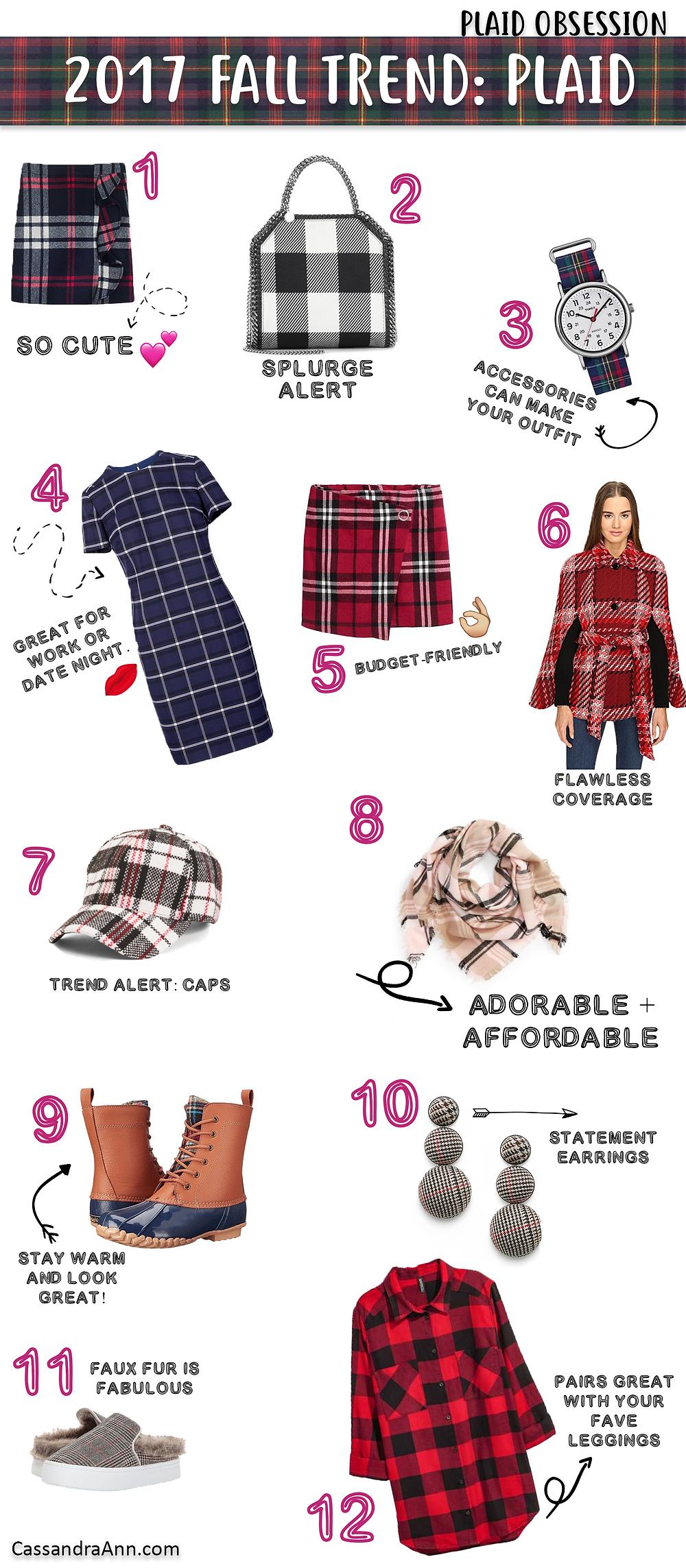 2017 Fall Trend: Plaid - Plaid Fashion - Winter Fashion - Fall Fashion - Lifestyle Blogger - The Sweetest Thing Blog