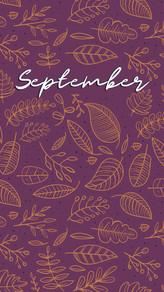 September Phone Background
