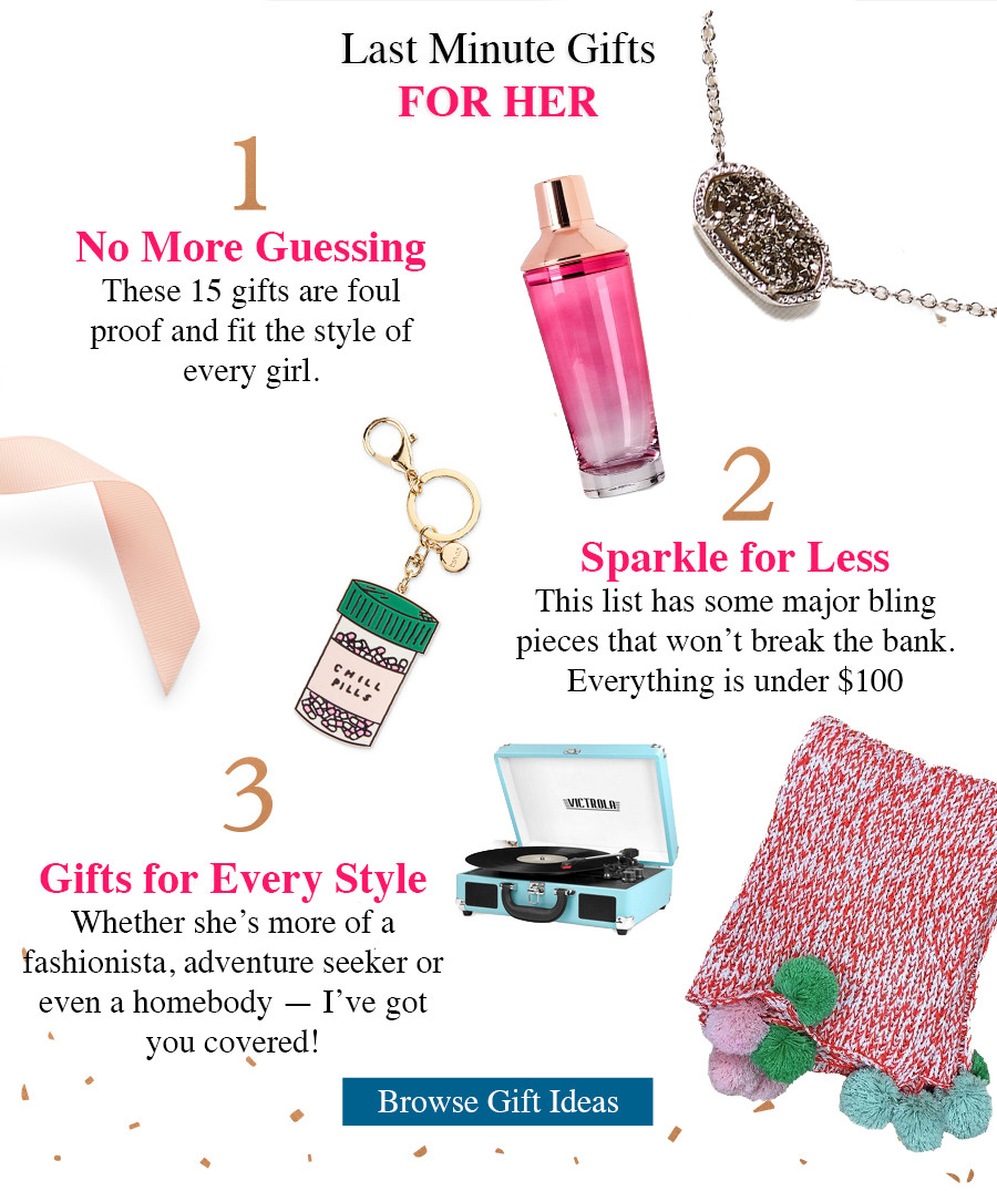 15 last minute gift ideas for her, gift ideas 2016, gift guide 2016