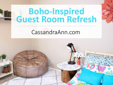 Boho-Inspired Guest Room Makeover + Decorating Tips