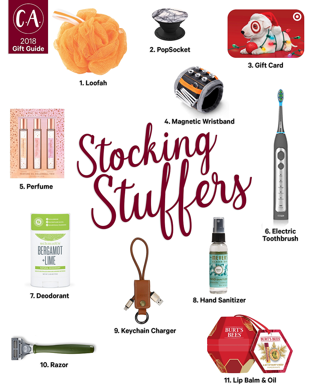 2018 Holiday Gift Guide for stocking stuffers - Cassandra Ann - 2018 Popular Blogger