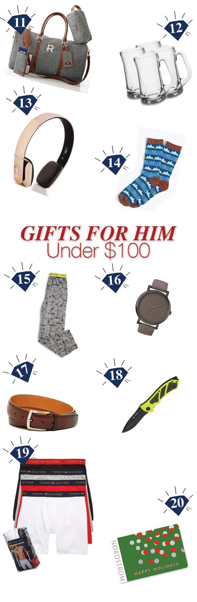 Gift Ideas for Him Under $100 - Gift Ides - Gift Guide 2016 - Cassandra Ann
