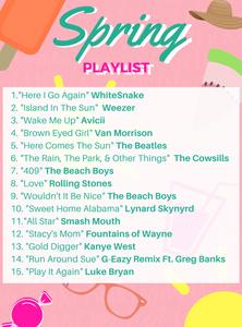 spring break playlist 2017