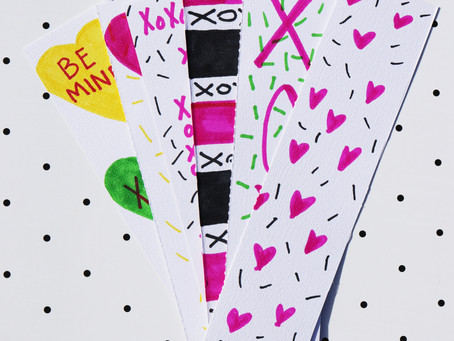 DIY Valentine's Inspired Bookmarks
