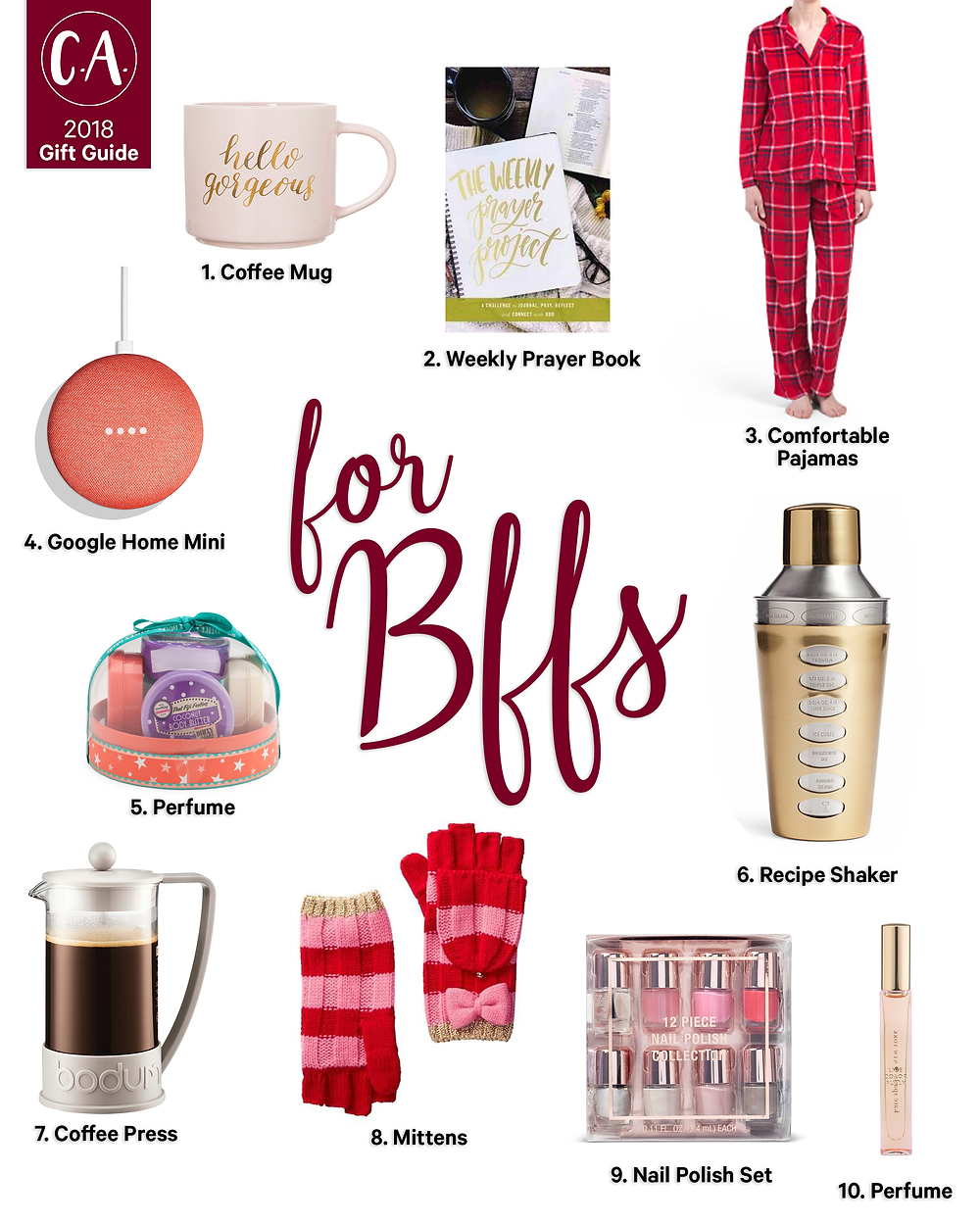 2018 Holiday Gift Guide for Your BFF - Cassandra Ann - 2018 Popular Blogger