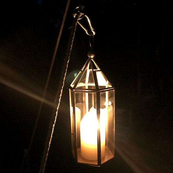 Candle lantern for pillar candle