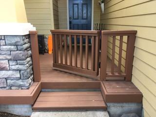 Custom Stairway Gate _ Cedar & Stone