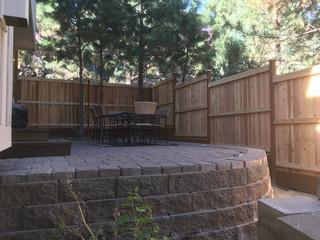 Custom Stepped Cap & Bevel Fence Central Oregon _ Cedar & Stone