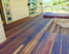 Deck Refinishing - Mahogany