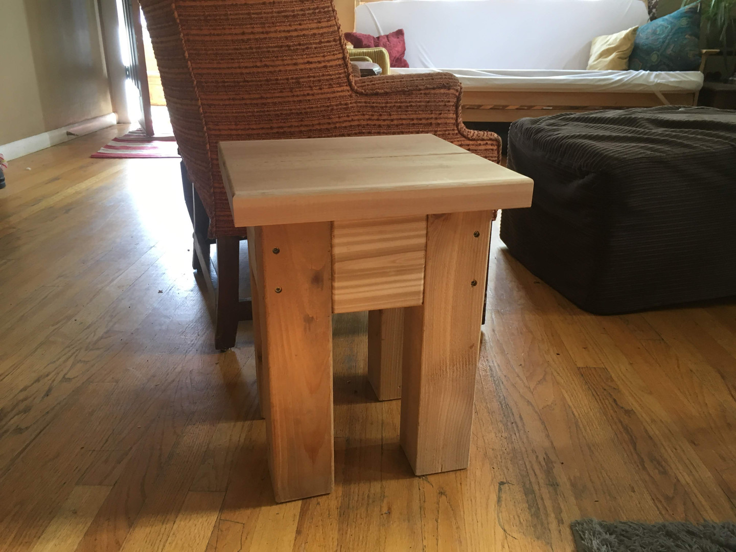 Custom Cedar Side Table