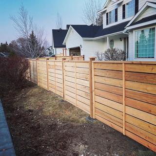 Capped Craftsman Fencing - Side _ Cedar & Stone
