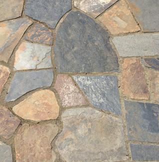 Custom Flagstone Patio _ Cedar & Stone
