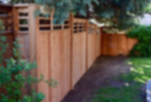 Shadowbox Fencing with Cedar