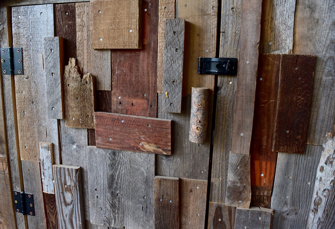 Hen house close up - reclaimed wood