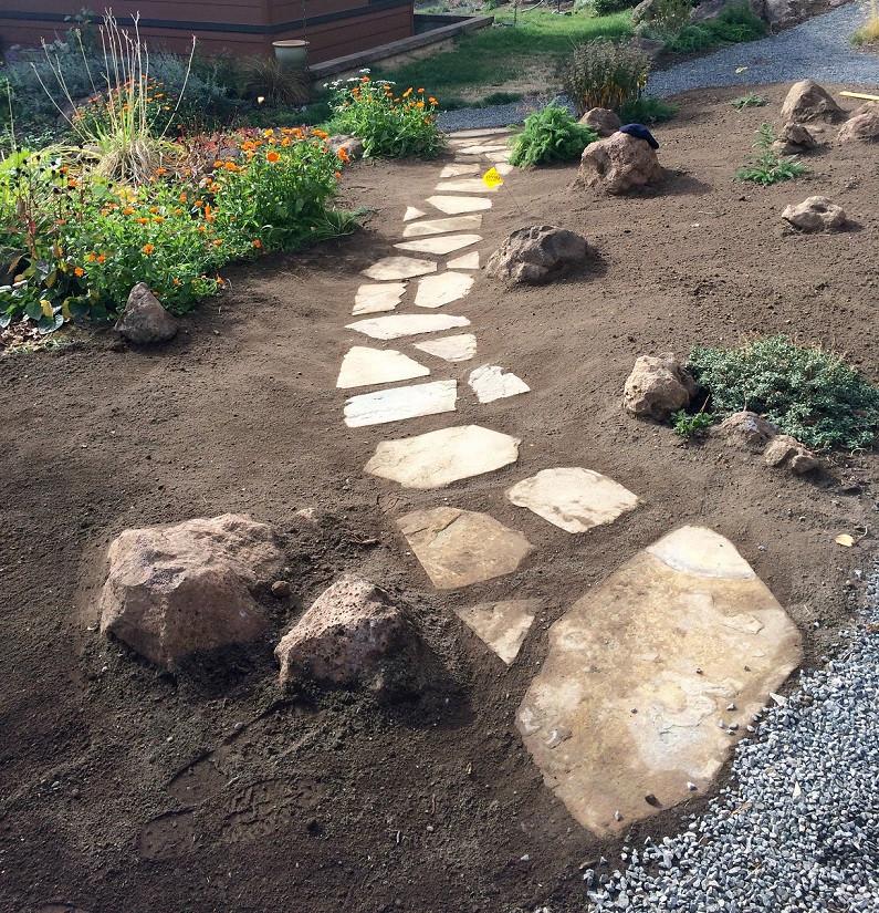 Flagstone Stepper Path