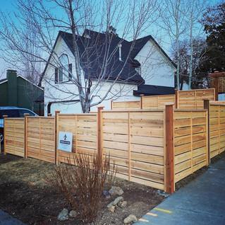 Custom Stepped Capped Craftsman Fencing _ Cedar & Stone